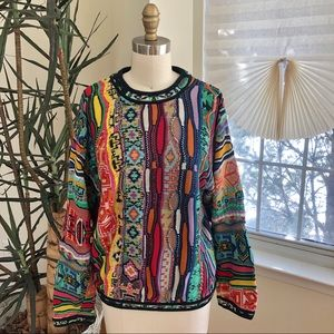 COOGI vintage rainbow crew sweater